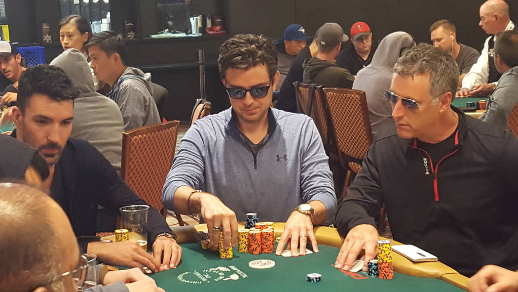 Richard Gryko of Romford Essex, England, cracked aces in a massive pot late Tuesday to jump into third place at the end of Day 2A/2B of the World Series of Poker's Main Event $10,000 buy-in No-lim ...