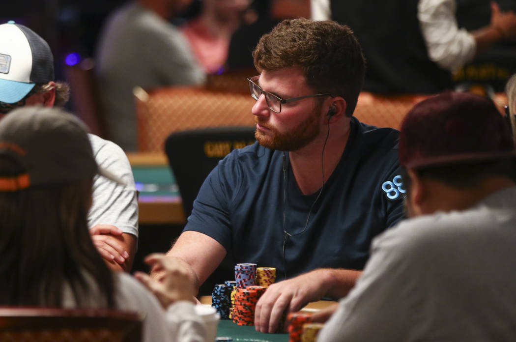 Nick Petrangelo competes in the World Series of Poker's Main Event at the Rio Convention Center in Las Vegas on Thursday, July 13, 2017. Chase Stevens Las Vegas Review-Journal @csstevensphoto