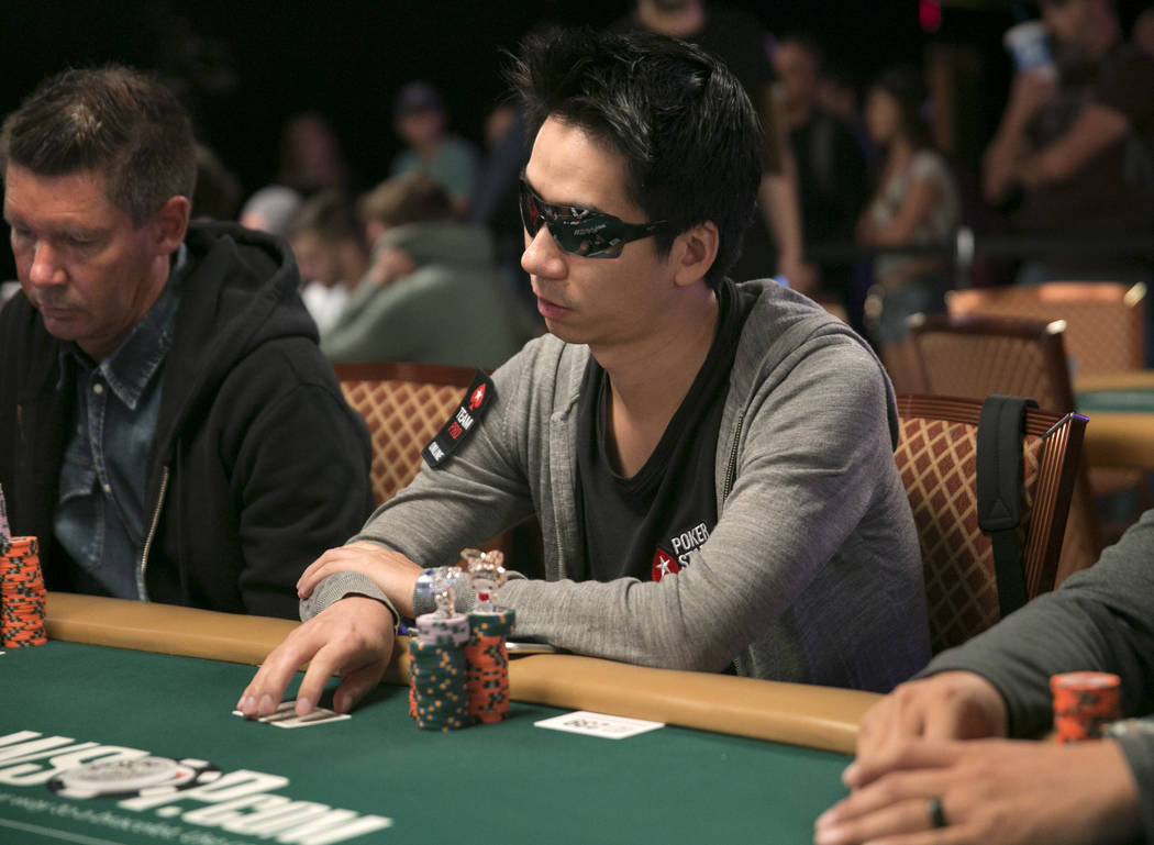 Randy Lew plays poker during day five of The World Series of Poker at The Rio All-Suite Hotel and Casino in Las Vegas, Saturday, July 15, 2017. Gabriella Angotti-Jones Las Vegas Review-Journal @ga ...