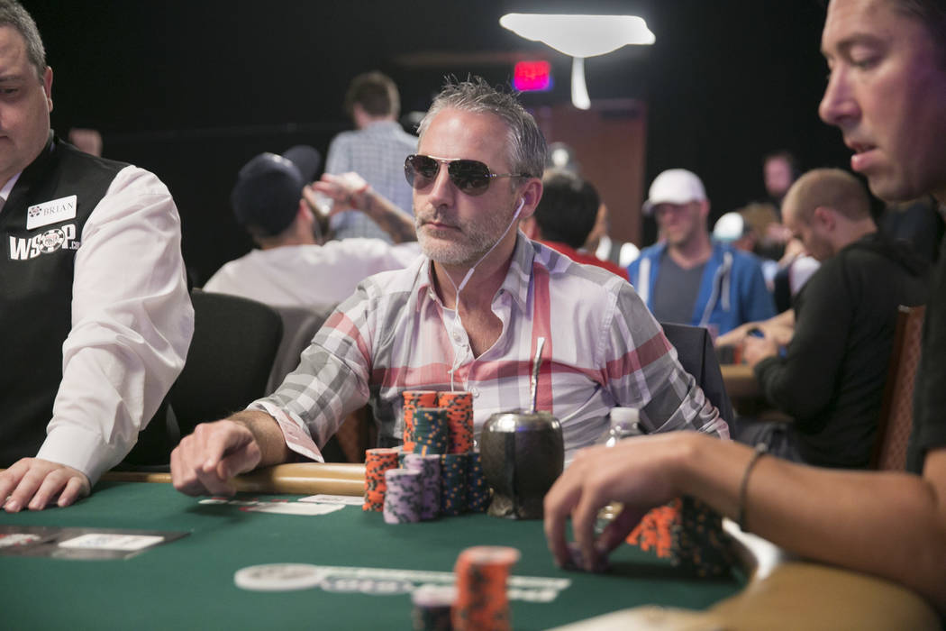 Damian Salas of Argentina waits for his turn during day five of The World Series of Poker at The Rio All-Suite Hotel and Casino in Las Vegas, Saturday, July 15, 2017. Gabriella Angotti-Jones Las V ...