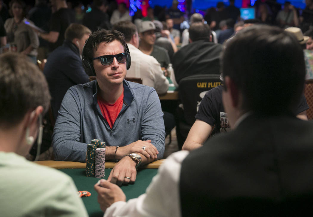 Richard Gryko waits for his turn during day five of The World Series of Poker at The Rio All-Suite Hotel and Casino in Las Vegas, Saturday, July 15, 2017. Gabriella Angotti-Jones Las Vegas Review- ...