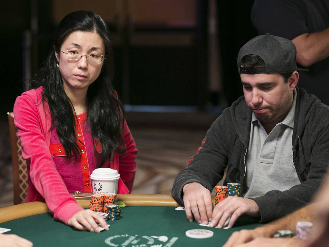 Yum-Yuam Li (left) waits for her turn during day five of the World Series of Poker at The Rio All-Suite Hotel and Casino in Las Vegas, Saturday, July 15, 2017. Gabriella Angotti-Jones Las Vegas Re ...