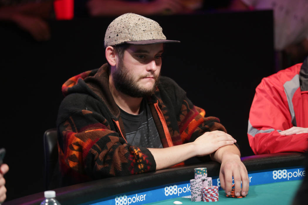 Bryan Piccioli plays poker during day six of the World Series of Poker on Sunday, July 16, 2017, at the Rio hotel-casino in Las Vegas. Rachel Aston Las Vegas Review-Journal @rookie__rae