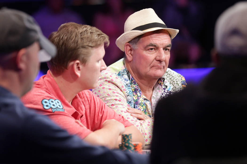 John Hesp plays poker on day six of the World Series of Poker on Sunday, July 16, 2017, at the Rio hotel-casino in Las Vegas. Rachel Aston Las Vegas Review-Journal @rookie__rae