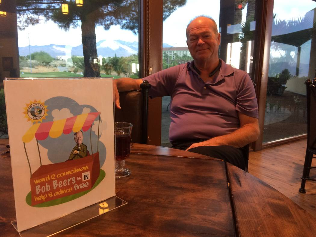 Bob Beers speaks about his time in office June 7, 2017 at Angel Park Golf Course, about a week before leaving office as city councilman for Ward 2. Beers was known for making himself available to  ...