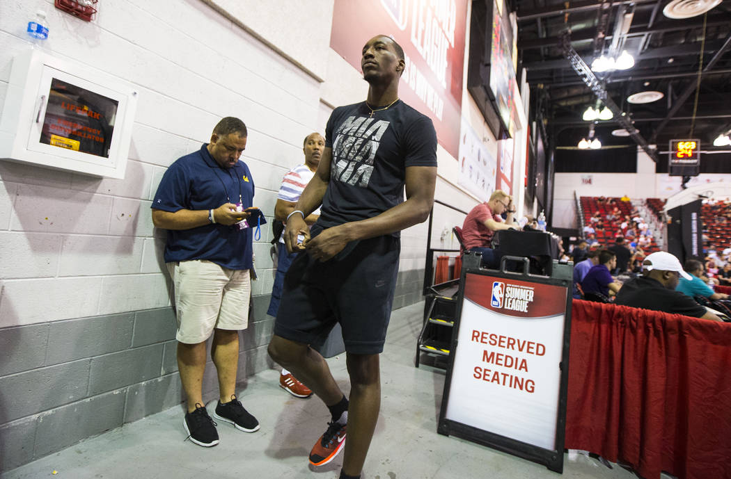 Miami Heat's Bam Adebayo at the NBA Summer League at the Cox Pavilion in Las Vegas on Wednesday, July 12, 2017. Chase Stevens Las Vegas Review-Journal @csstevensphoto