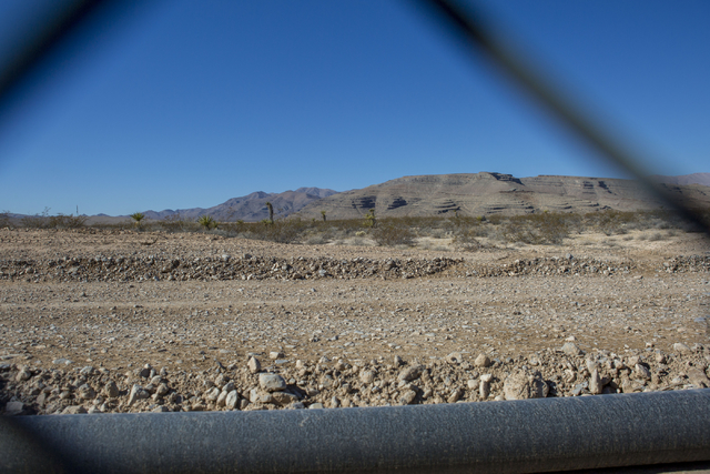 Faraday Future site pictured at the intersection of U.S. Highway 93 and Apex Power Parkway, Thursday, Nov. 10, 2016, in North Las Vegas. Elizabeth Page Brumley/Las Vegas Review-Journal Follow @ELI ...
