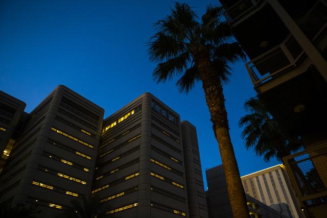 The Clark County Detention Center in downtown Las Vegas (Chase Stevens/Las Vegas Review-Journal) @csstevensphoto