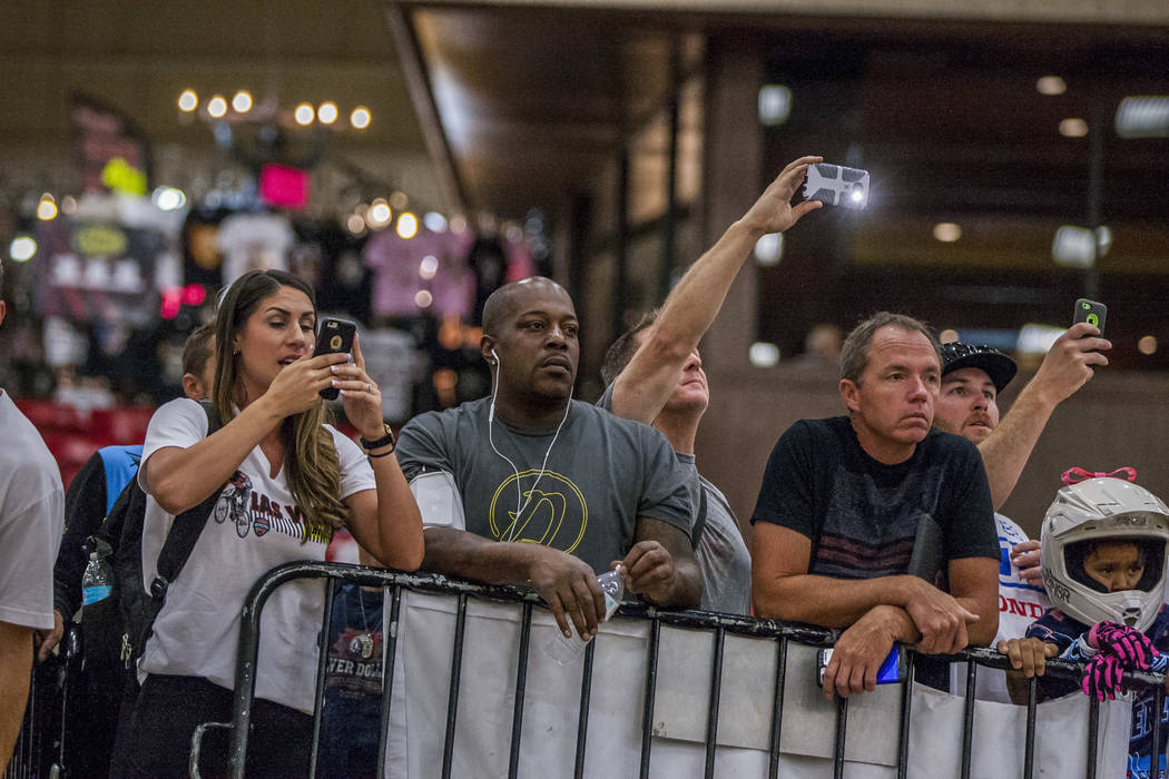 Spectators watch during the USA BMX 2017 Las Vegas Nationals at South Point Arena on Sunday, July 16, 2017.  Patrick Connolly Las Vegas Review-Journal @PConnPie