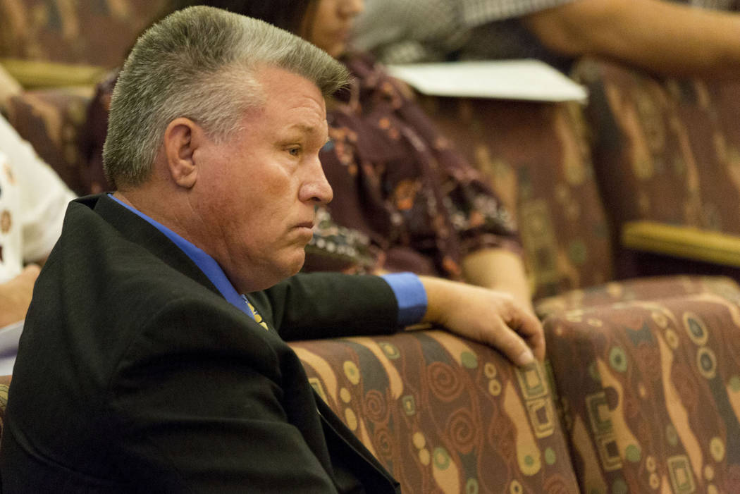 North Las Vegas Constable Robert Eliason appears before the Clark County Commission, Wednesday, July 5, 2017, in Las Vegas. Elizabeth Brumley Las Vegas Review-Journal