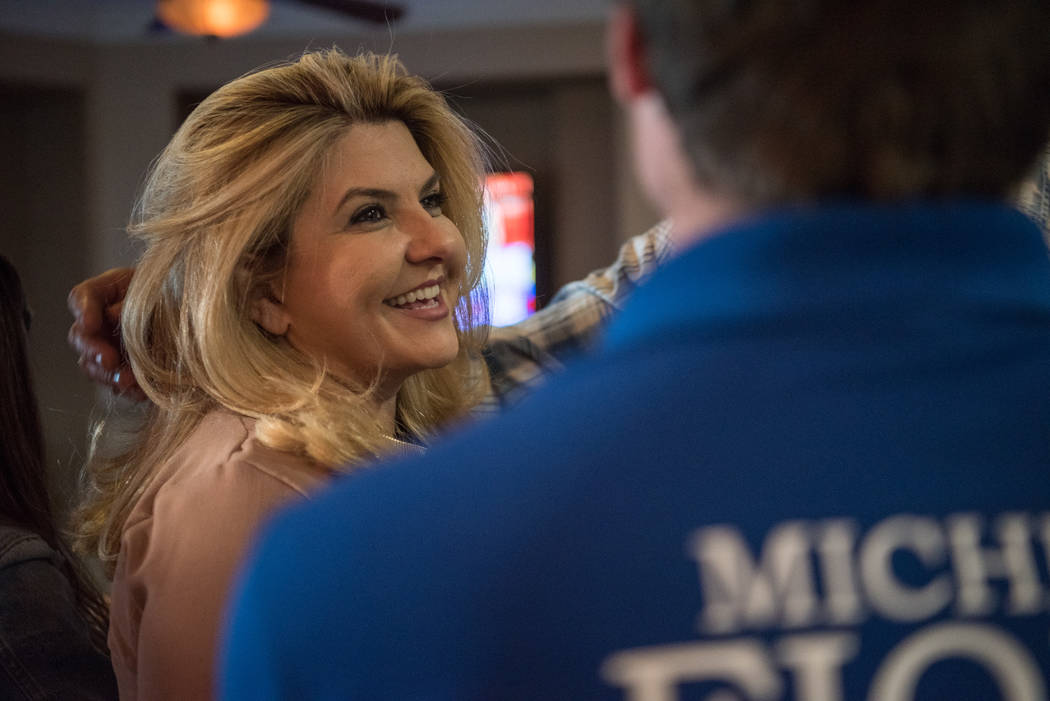 Las Vegas City Council Ward 6 candidate Michele Fiore holds her election night party in her home on Tuesday, June 13, 2017 in Las Vegas. (Morgan Lieberman/Las Vegas Review-Journal)