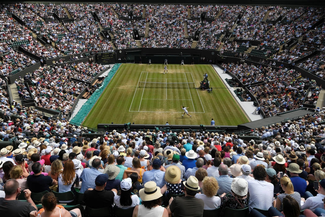 Tennis - Wimbledon - London, Britain - July 8, 2017   General view of court 1 during the third round match between Canada's Milos Raonic and Spain's Albert Ramos-Vinolas   REUTERS/To ...