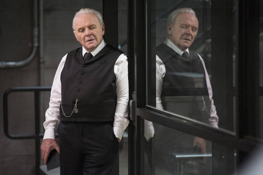 """Anthony Hopkins in a scene from """"Westworld."""" The program was nominated for an Emmy Award for outstanding drama series on Thursday, July 13, 2017. (John P. Johnson/HBO via AP)"""