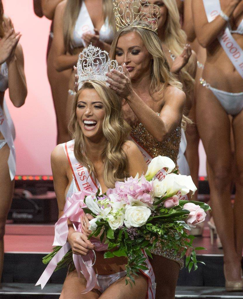 Chelsea Morgensen of Hollywood, California, won the 2017 Hooters International swimsuit pageant. (Tom Donoghue)