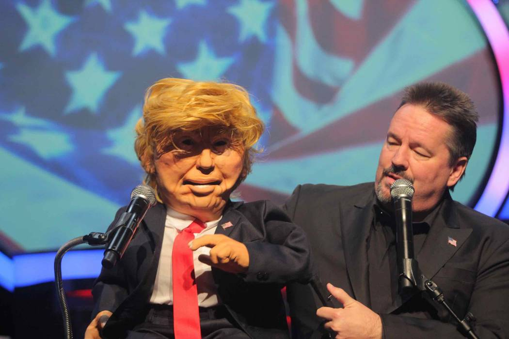 Courtesy Terry Fator debuts his new Donald Trump puppet in his show at The Mirage.