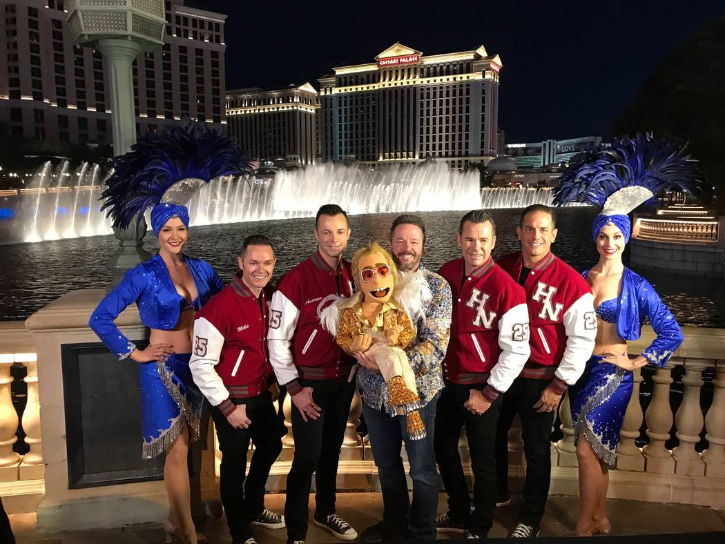Courtesy Every year Las Vegas Entertainer creates new puppets. This year he debuts Elton John and a non-political Donald Trump to the cast.