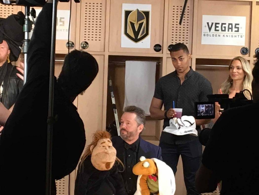 Terry Fator backstage with his puppets. (Courtesy)