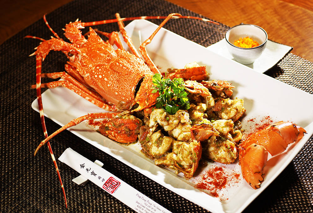 Ping Pang Pong offers authentic Chinese dishes, such as this crab dish. (Boyd Gaming)