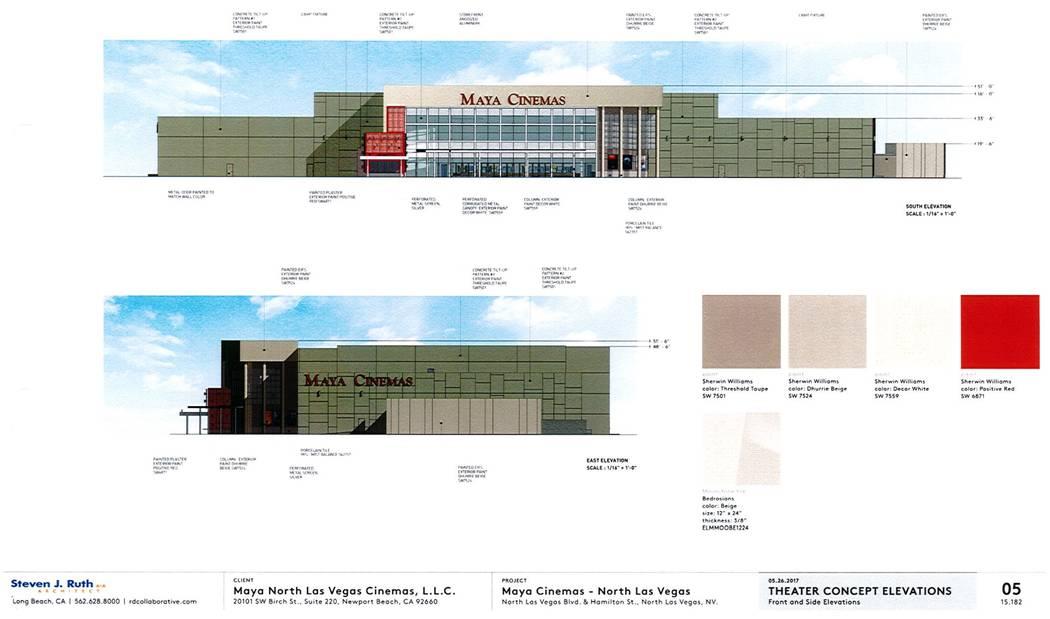 Plans for Maya Cinemas in North Las Vegas
