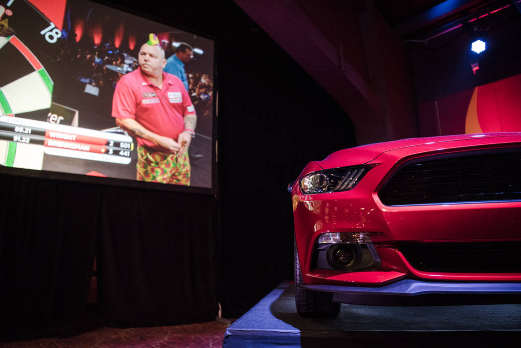 The winning prize at the PDC's World Series of Darts Festival at Tropicana hotel-casino on Friday, July 14, 2017, in Las Vegas. Morgan Lieberman Las Vegas Review-Journal