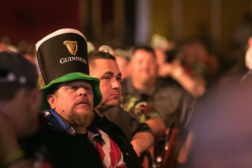 Spectators wait for a positive turn of events during the match at the PDC's World Series of Darts Festival at Tropicana hotel-casino on Friday, July 14, 2017, in Las Vegas. Morgan Lieberman Las Ve ...