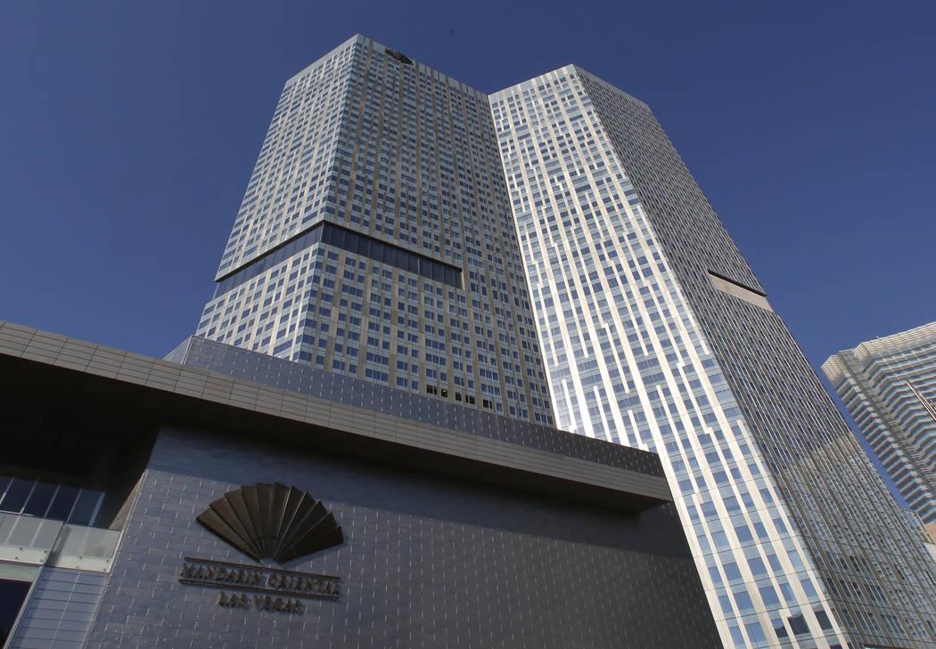 Hotel and condo tower Mandarin Oriental, Friday, July 14, 2017, in CityCenter on the Las Vegas Strip. (Bizuayehu Tesfaye/Las Vegas Review-Journal) @bizutesfaye