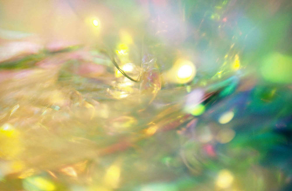 "An untitled image from ""Unnatural Landscapes"" exhibit was created using cellophane and lights. (Courtesy)"
