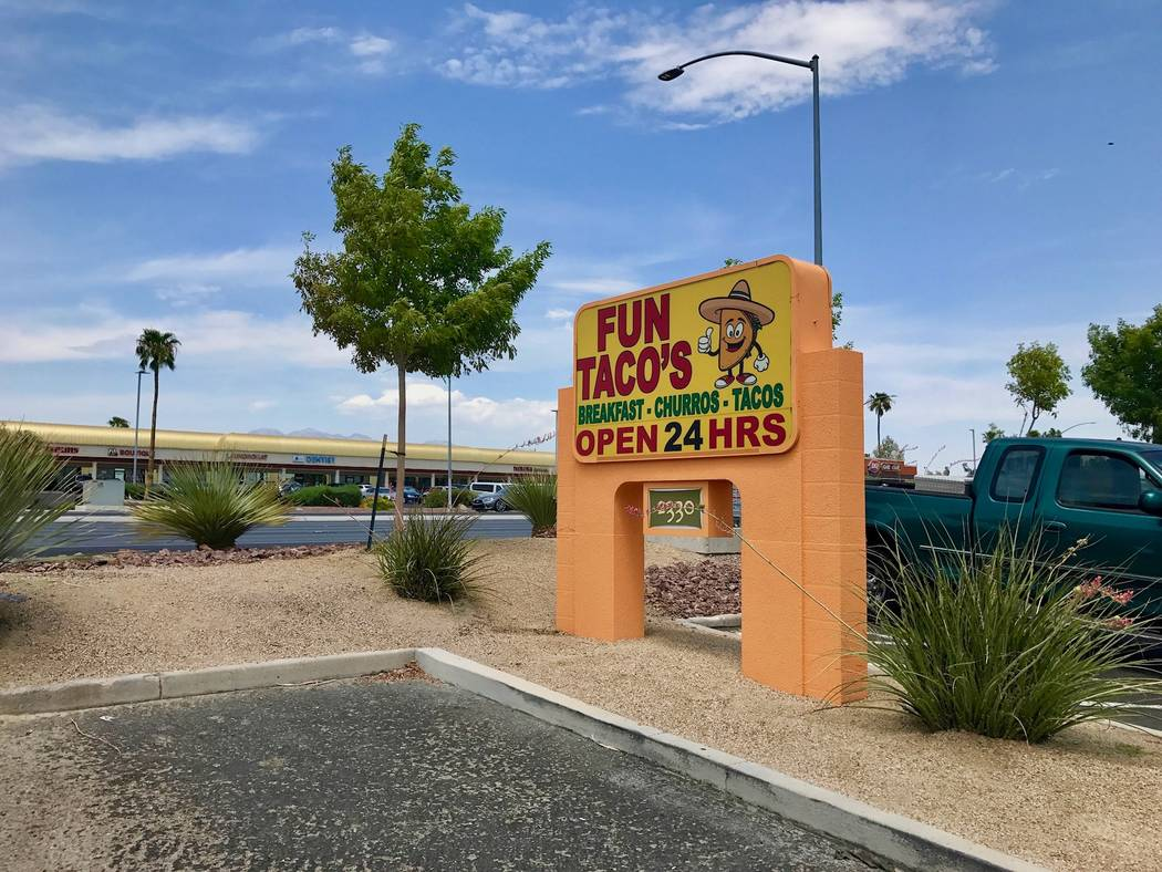 Fun Tacos, which opened in May, is located in the Harley Davidson shopping center at the northeast corner of West Sahara Avenue and South Rainbow Boulevard.(Madelyn Reese/View) @MadelynGReese