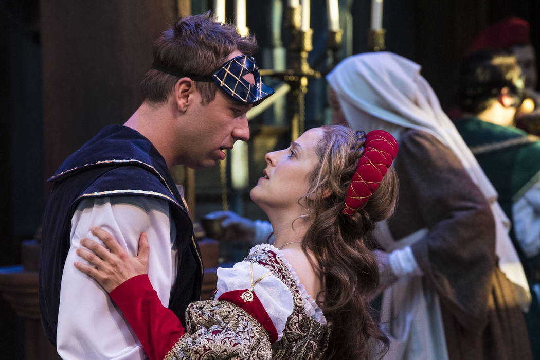 """A scene from """"Romeo and Juliet"""" at the Utah Shakespeare Festival. Karl Hugh Utah Shakespeare Festival"""