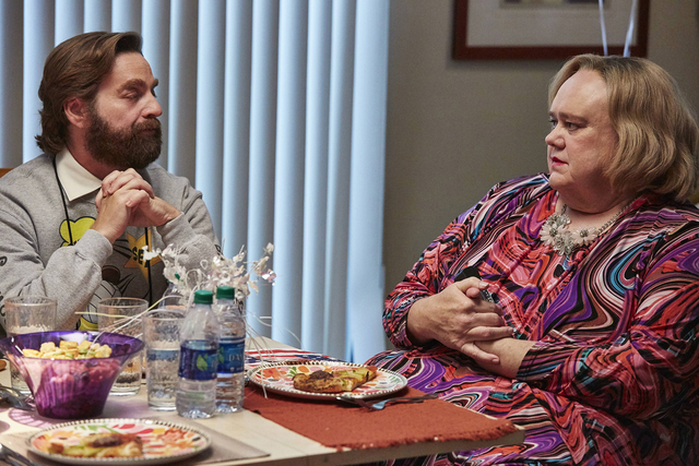 "Zach Galifiniakis as Dale and Louie Anderson as Christine in ""Baskets."" CR: Ben Cohen/FX"