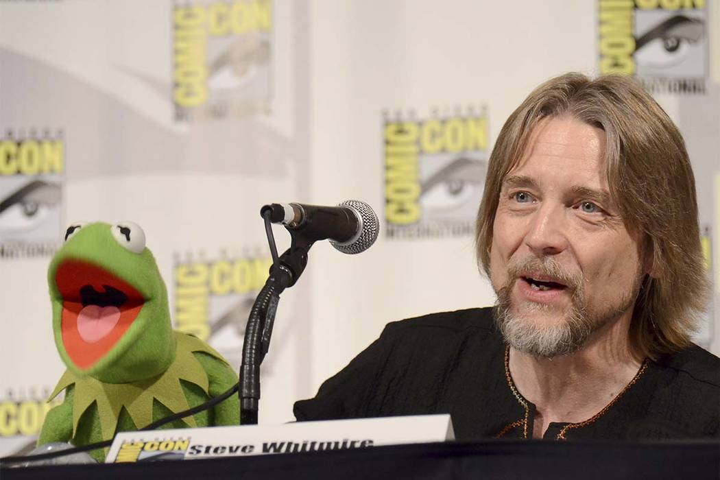 "In this July 11, 2015, file photo, Kermit the Frog, left, and puppeteer Steve Whitmire attend ""The Muppets"" panel on Day 3 of Comic-Con International in San Diego. ABC News and The Hollywood Repor ..."