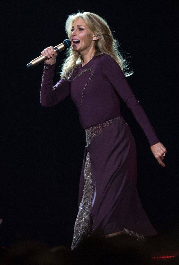 Faith Hill and Tim McGraw performed at the T-Mobile Arena last night (July 13). (Tom Donoghue)