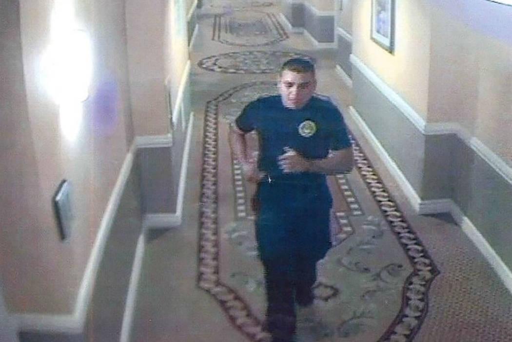 Sexual assault suspect, seen in surveillance video (Las Vegas Metropolitan Police Department)