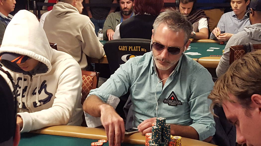 Damian Salas of Argentina has the overall chip lead to begin Day 5 of the World Series of Poker's $10,000 buy-in No-limit Texas Hold 'em World Championship on Saturday at the Rio Convention Cent ...