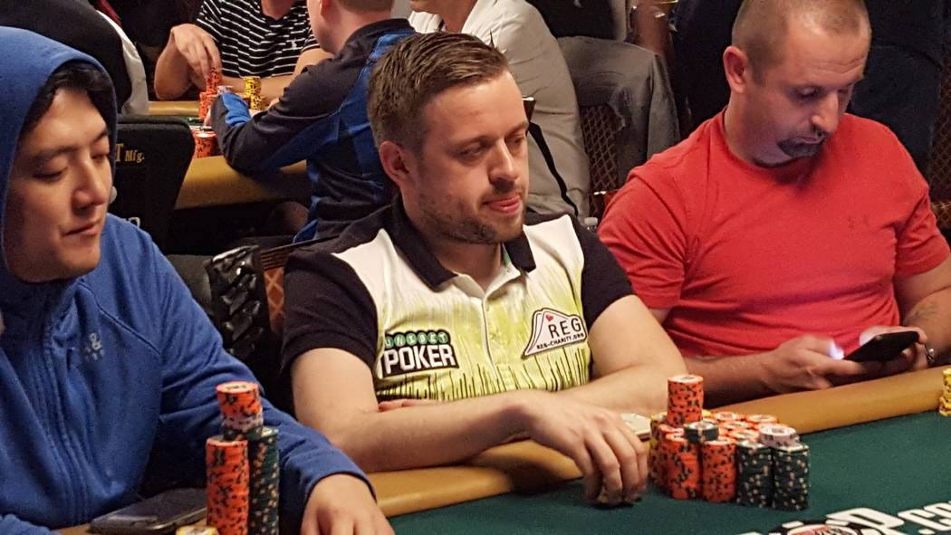 Belgian Kenny Hallaert is in third place at the start of Day 5 of the World Series of Poker's $10,000 buy-in No-limit Texas Hold 'em World Championship at the Rio Convention Center. Hallaert is  ...