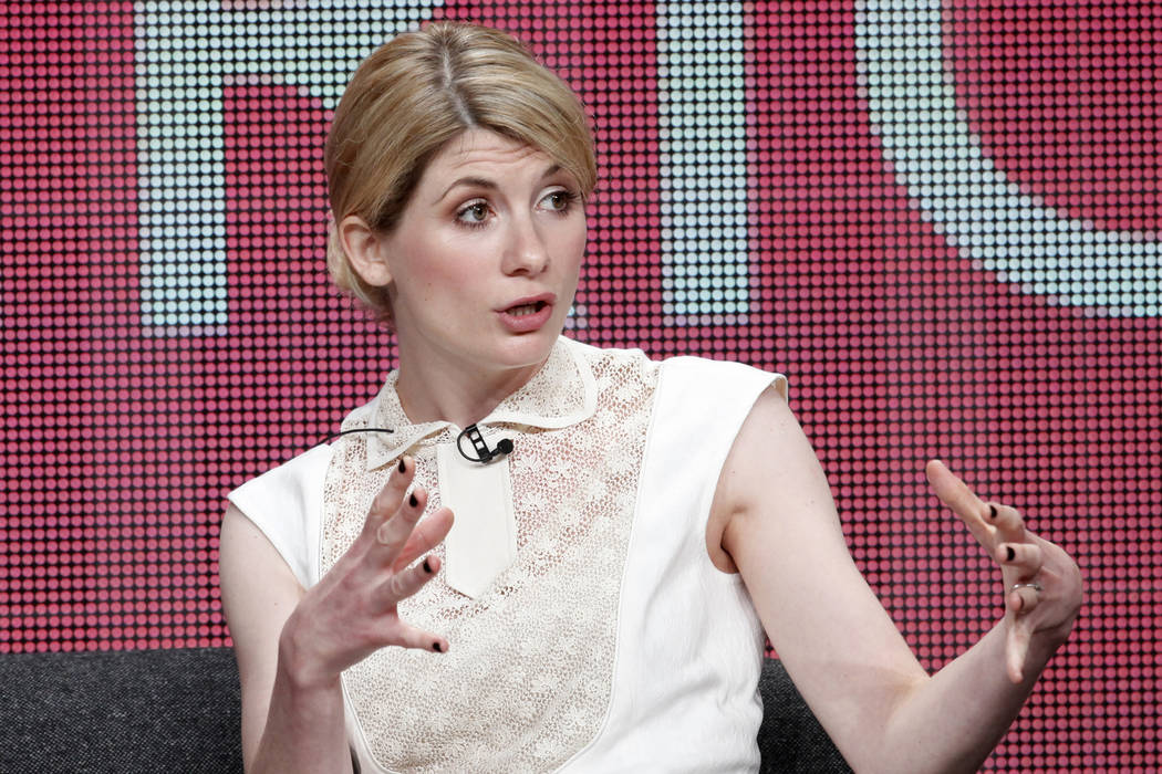 "Actress Jodie Whittaker star of the new series ""Broadchurch"" on the BBC America cable channel takes part in a panel discussion at the Television Critics Association Cable TV Summer press tour in B ..."