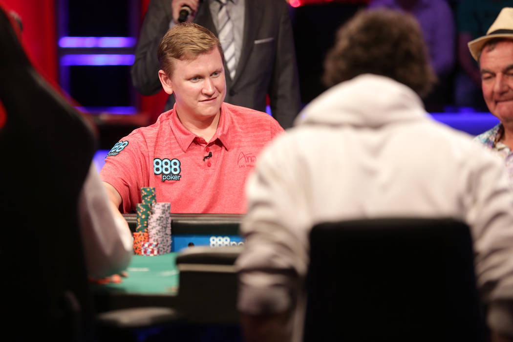 Ben Lamb plays poker during day six of the World Series of Poker on Sunday, July 16, 2017, at the Rio hotel-casino in Las Vegas. Rachel Aston Las Vegas Review-Journal @rookie__rae