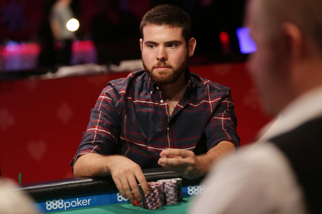 Jack Sinclair plays poker during day six of the World Series of Poker on Sunday, July 16, 2017, at the Rio hotel-casino in Las Vegas. Rachel Aston Las Vegas Review-Journal @rookie__rae