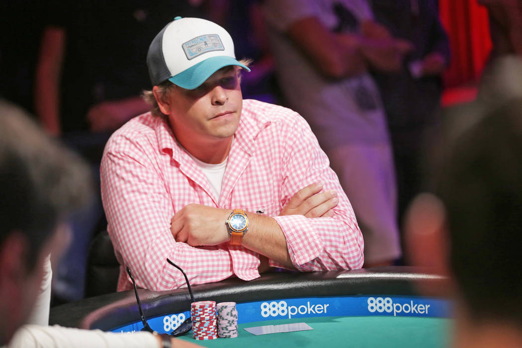 Joshua Horton plays poker during day six of the World Series of Poker on Sunday, July 16, 2017, at the Rio hotel-casino in Las Vegas. Rachel Aston Las Vegas Review-Journal @rookie__rae