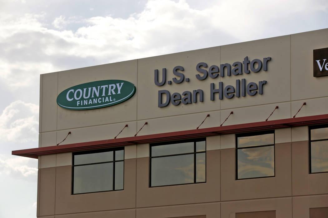 Sen. Dean Heller's office at 8930 W. Sunset Road in Las Vegas was broken into Saturday, July 15, 2017. (Rachel Aston Las Vegas/Review-Journal) @rookie__rae