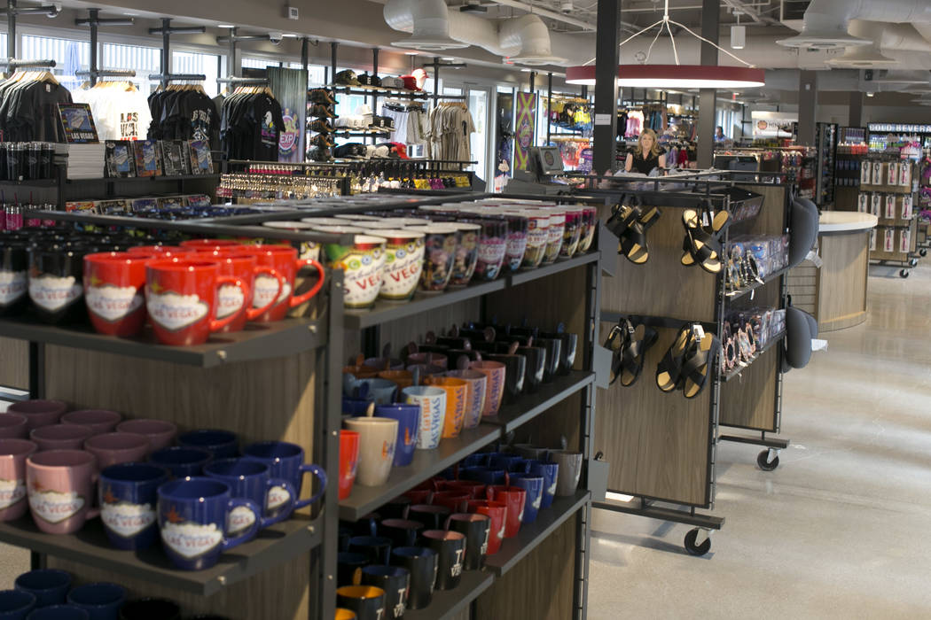 Souvenirs at Vegas EXP in the Grand Bazaar Shops on the Strip in Las Vegas, Thursday, July 20, 2017. Vegas EXP will be the first interactive digital store in Las Vegas. Gabriella Angotti-Jones Las ...