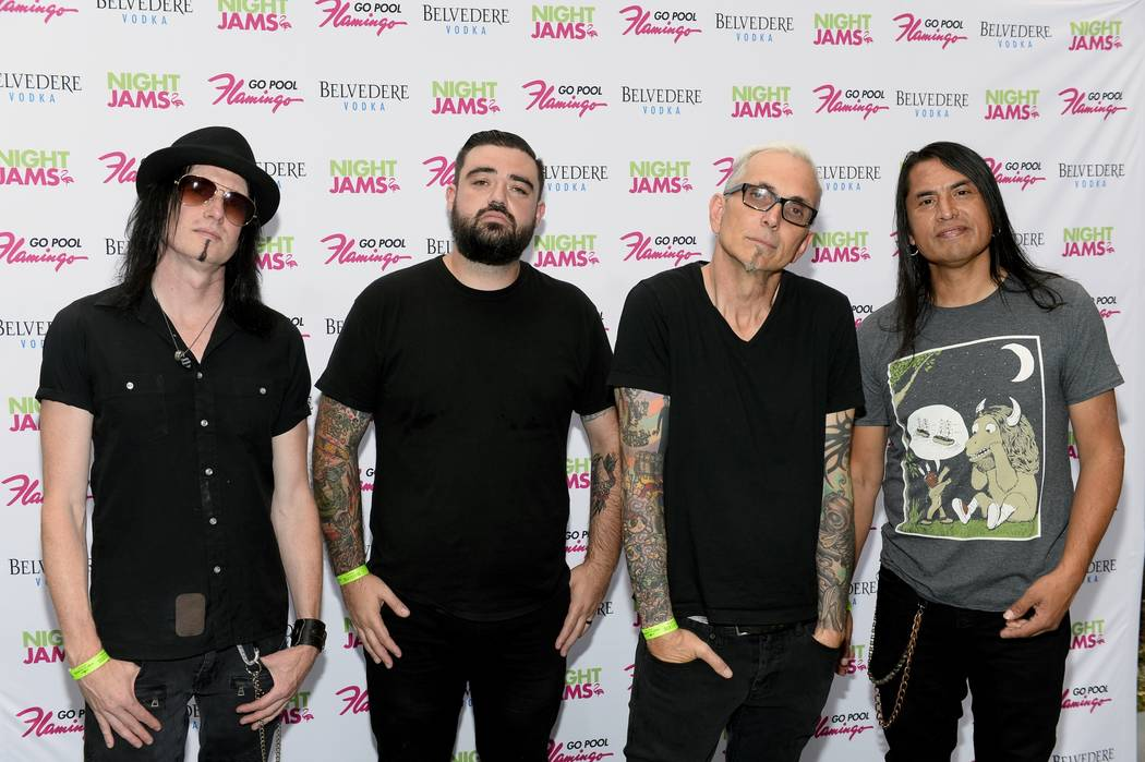 Everclear performed more than a dozen songs last night (July 16) at the Flamingo's GO pool. (Bryan Steffy)
