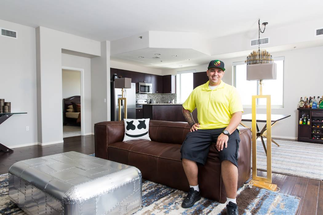 Corey Daniel found his own version of paradise at One Las Vegas, where he purchased a two-bedroom residence featuring views of the mountains and the Strip. (Mona Shield Payne)