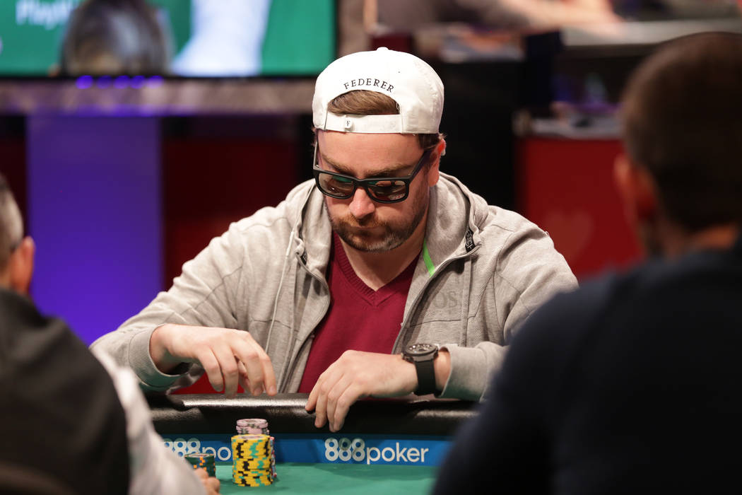 Antoine Saout plays poker during day seven of the World Series of Poker on Monday, July 17, 2017, at the Rio hotel-casino in Las Vegas. (Rachel Aston/Las Vegas Review-Journal) @rookie__rae