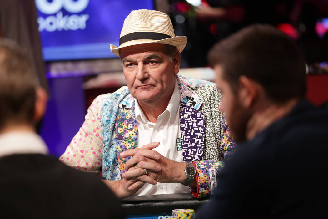 John Hesp plays poker during day seven of the World Series of Poker on Monday, July 17, 2017, at the Rio hotel-casino in Las Vegas. Rachel Aston Las Vegas Review-Journal @rookie__rae