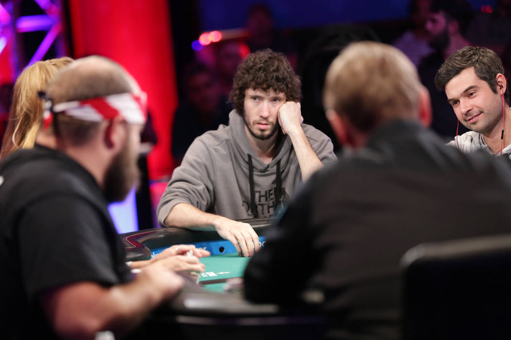 Daniel Ott plays poker during day seven of the World Series of Poker on Monday, July 17, 2017, at the Rio hotel-casino in Las Vegas. (Rachel Aston/Las Vegas Review-Journal) @rookie__rae