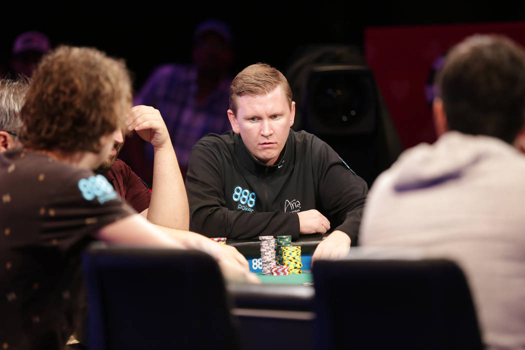 Ben Lamb plays poker during day seven of the World Series of Poker on Monday, July 17, 2017, at the Rio hotel-casino in Las Vegas. (Rachel Aston/Las Vegas Review-Journal) @rookie__rae