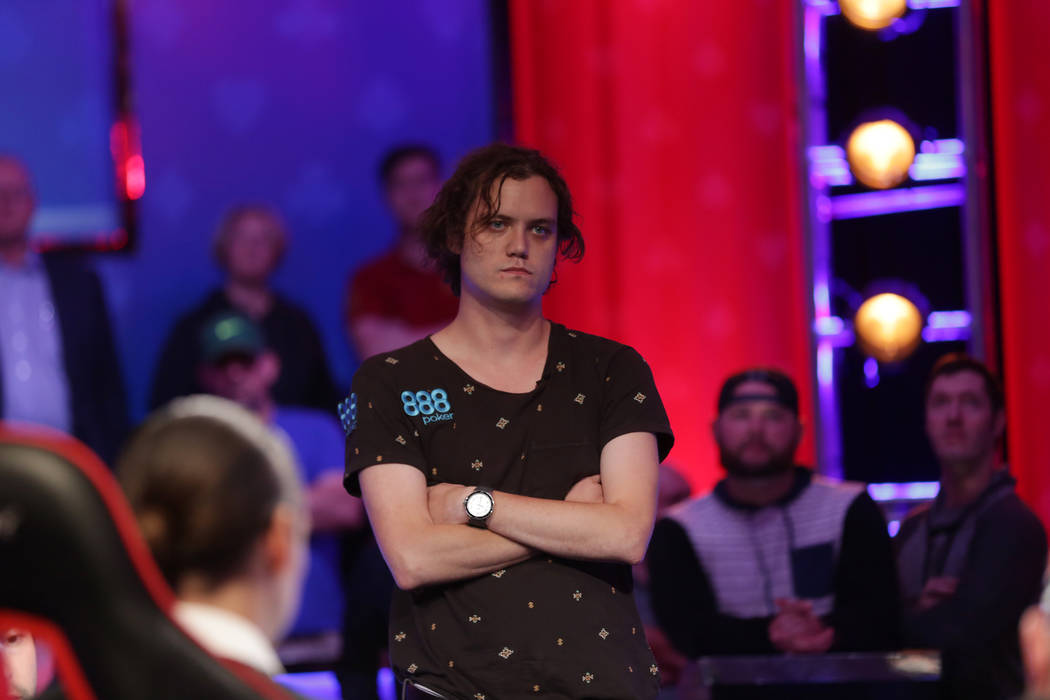 Michael Ruane watches the poker table from steps away during day seven of the World Series of Poker on Monday, July 17, 2017, at the Rio hotel-casino in Las Vegas. Rachel Aston Las Vegas Review-Jo ...