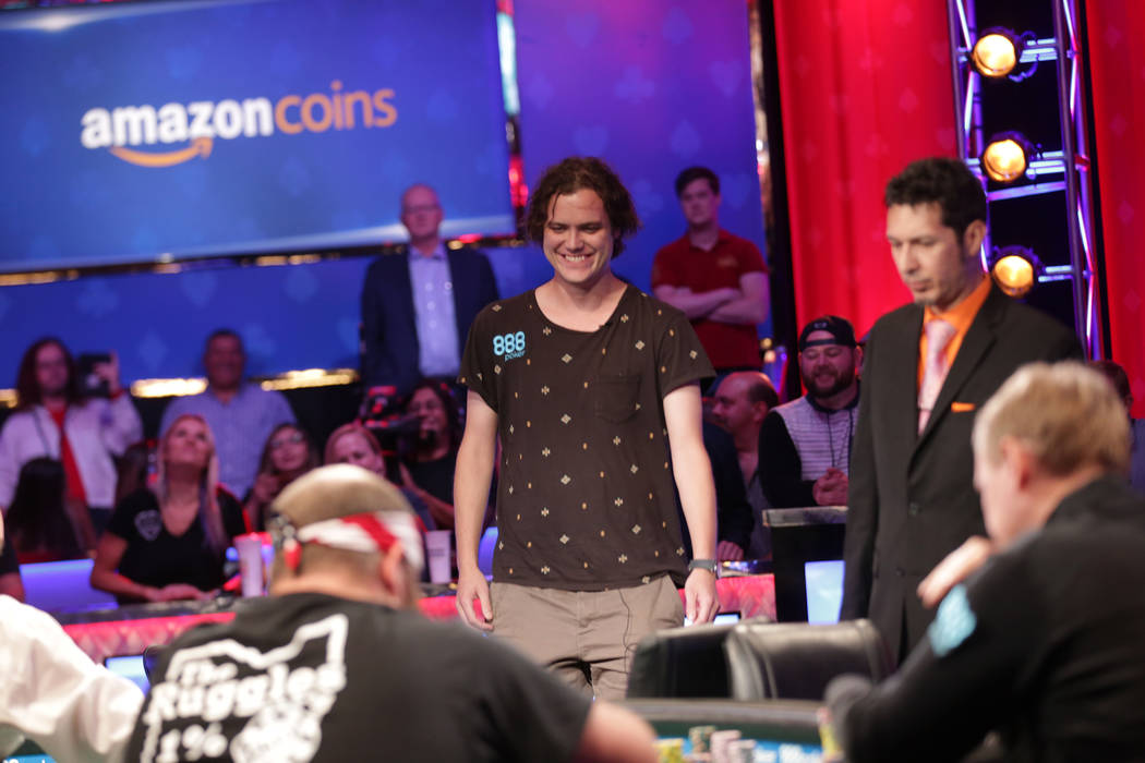 Michael Ruane approaches the poker table during day seven of the World Series of Poker on Monday, July 17, 2017, at the Rio hotel-casino in Las Vegas. (Rachel Aston/Las Vegas Review-Journal) @rook ...