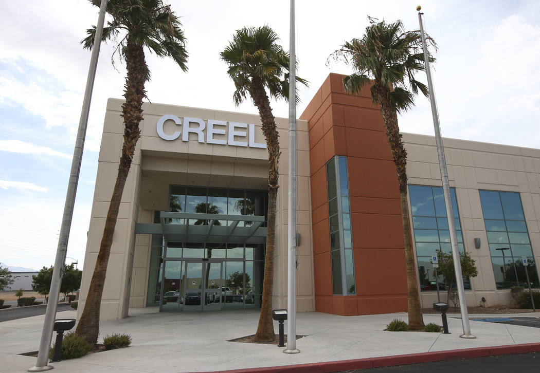 The exterior of CREEL Printing in Las Vegas on Tuesday, July 18, 2017. The family-owned business was sold to Chicago-based LSC Communications. Chase Stevens Las Vegas Review-Journal @csstevensphoto